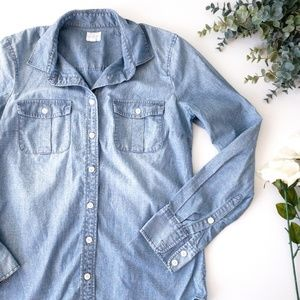 J. Crew Factory Chambray Perfect Shirt